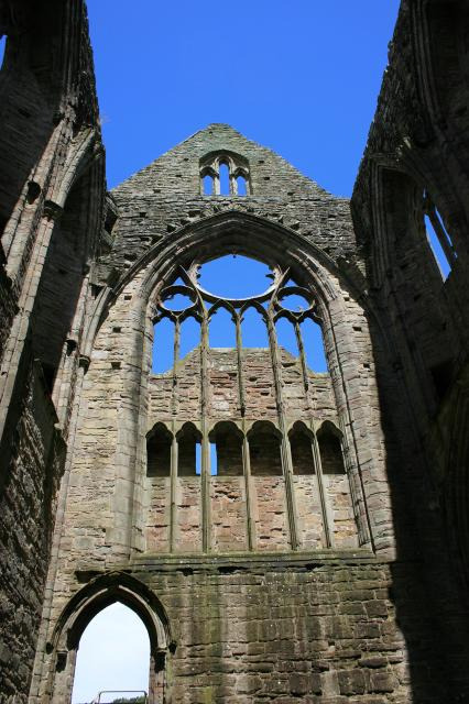 North transept, abbey church at Tintern