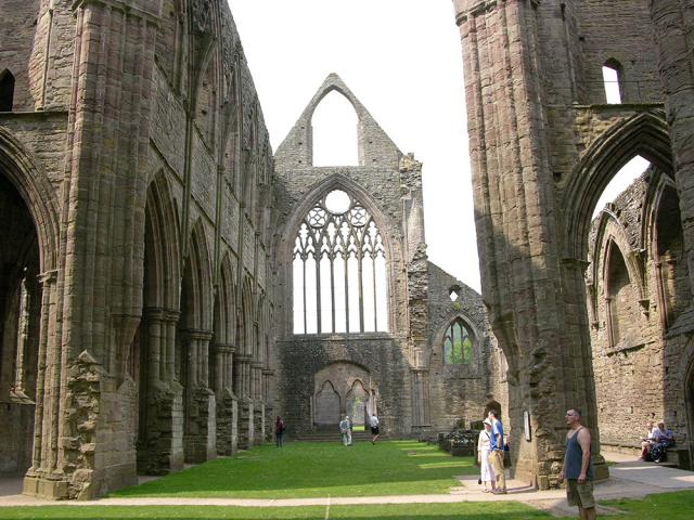 Nave of the church at Tintern, looking towards the west end