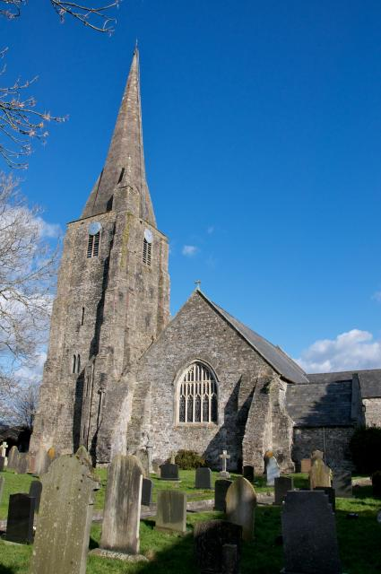Exterior of the Church of St Mary, Kidwelly