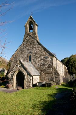 Exterior of the Priory Church of St Mary, Beddgelert