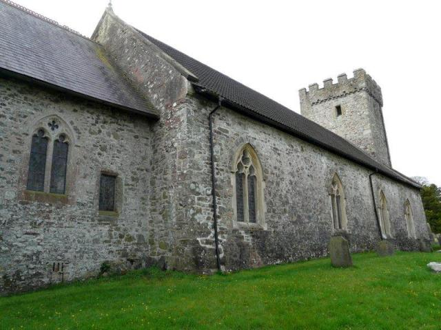 Former priory church at St Clears