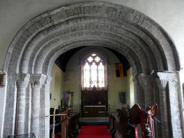 Interior of the church at St Clears