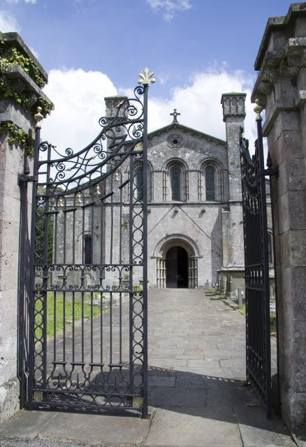 West front of the abbey church of St Mary, Margam