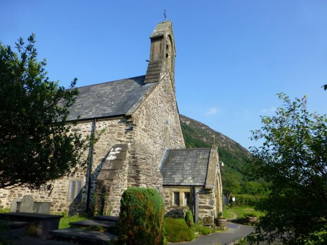 Exterior of the priory church, Beddgelert