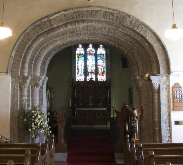 Chancel arch, priory church of St Mary Magdalene