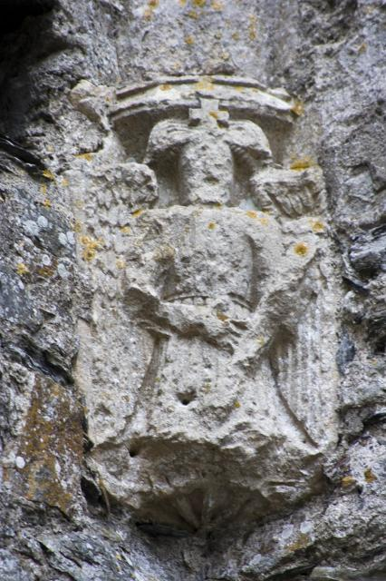 Angel corbel, St Dogmael's Abbey, St Dogmael's Abbey