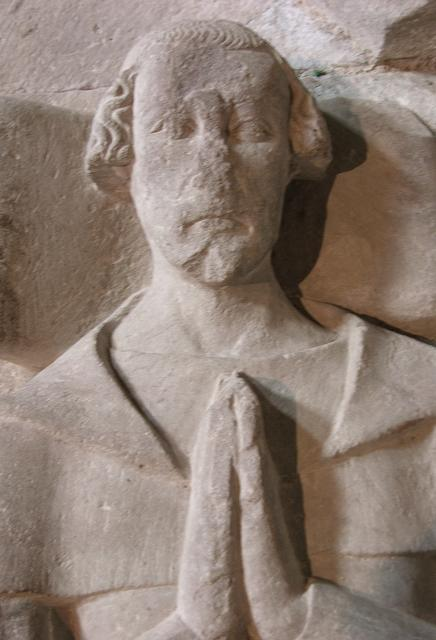 Effigy of an unknown cleric, Priory Church of St John the Evangelist, Brecon
