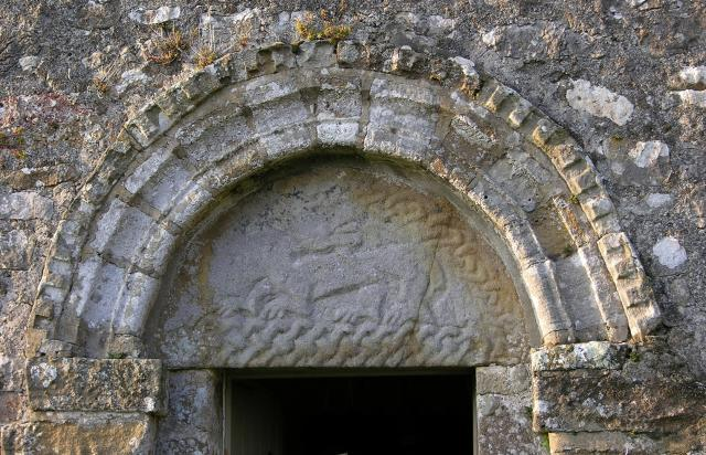 Tympanum, Priory Church of St Seiriol, Penmon