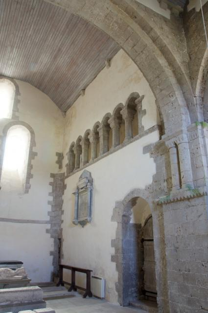 Interior of the south transept, Priory Church of St Michael, Ewenny