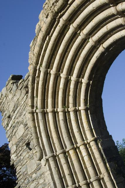 Detail from the arch, west door of Strata Florida Abbey